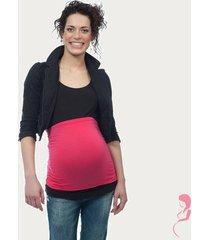 op en top zwanger zwangerschaps buikband luxe roze