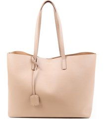 saint laurent large shopping tote brown leather bag brown sz: m