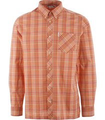 ben sherman slub stripe check shirt - orange 0054199
