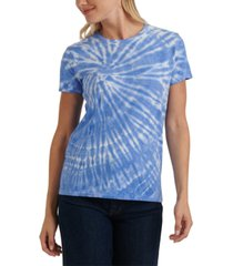 lucky brand cotton tie-dyed t-shirt
