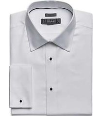 black by vera wang white woven pattern tuxedo formal shirt