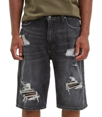 levi's men's 569 loose-fit ripped shorts