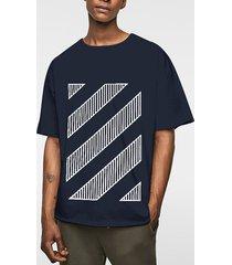 hombres verano casual algodón soft plain graphic t-shirt