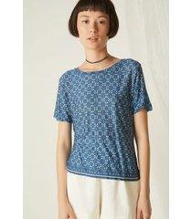 t-shirt barrado vitro azul est vitro azul