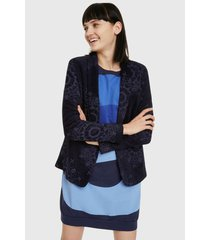 blazer desigual azul - calce regular