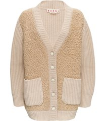 marni long cashmere knitted cardigan