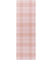 burberry lightweight check scarf - pink