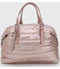 bolsa santa lolla puffer rosa