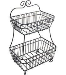mikasa french countryside 2 tier flatback basket