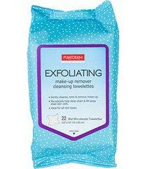 lenço exfoliante e demaquilante purederm - 22 unid