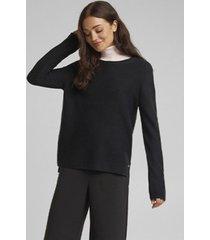 sweater texturado negro esprit