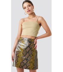 na-kd trend snake printed a line mini skirt - multicolor