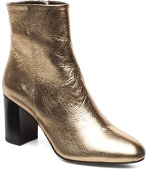 miranda high bootie shoes boots ankle boots ankle boot - heel guld filippa k