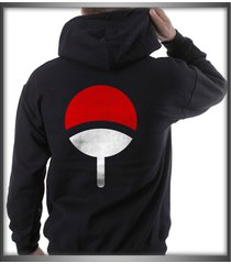 uchiha on back only clan symbol naruto black pullover hoodie s to 3xl