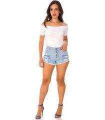 shorts jeans express hot pants olívia feminino