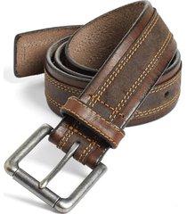 men's johnston & murphy leather belt, size 32 - brown