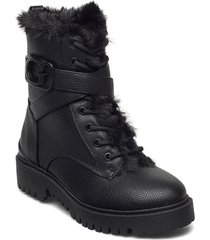 orana/stivaletto /leat shoes boots ankle boots ankle boot - flat svart guess