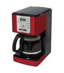 cafeteira elétrica programável 1.8l 36 xícaras oster 4401rd vermelha