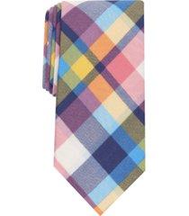 club room men's oman slim plaid tie, created for macy's