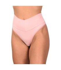 calcinha vip lingerie modeladora fio duplo rosa