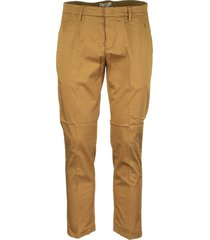 dondup casual trousers alfredo tobacco
