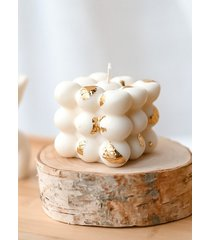 świeca sojowa bąbelka w złocie 6*6 cm