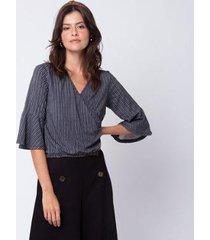 blusa mercatto transpassada feminina - feminino