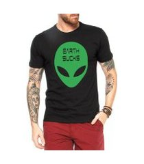 camiseta criativa urbana alien earth sucks