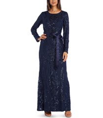 r & m richards sequinned gown