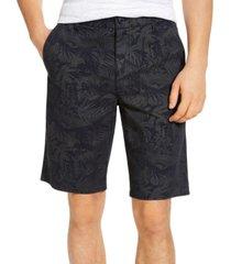 sun + stone men's dark tonal tropical print shorts, created for macy's