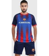 camiseta azul-rojo barcelona