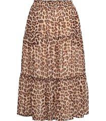 day birger et mikkelsen x boozt day protect leo knälång kjol brun day birger et mikkelsen
