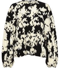 dianne, 1018 structure stretch blouse lange mouwen crème stine goya