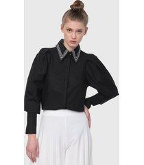 camisa negro-plateado paris district