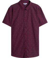 camisa hombre m/c puntos color vino, talla l