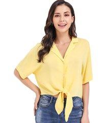 blusa nudo unitono amarillo nicopoly