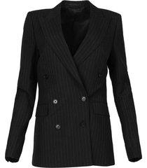 blazer 6, pinstripe linen
