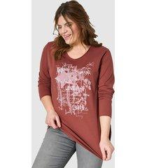 sweatshirt janet & joyce kastanjebruin::zilverkleur
