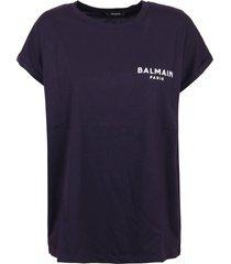 balmain ss flocked logo detail t-shirt - eco design