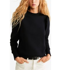 mango puffed-shoulder sweatshirt