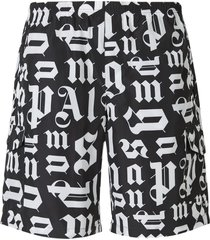 monogram logo swimshorts