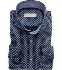 john miller overhemd navy print slim fit