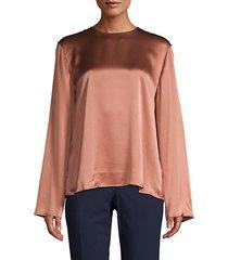 tie-back silk blouse