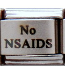 no nsaids laser medical alert for italian charm bracelets free wallet card