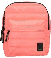 mochila matte mini coral rosa bubba bags