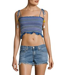 lima smocked crop top