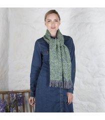irish woven celtic scarf green