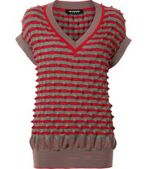 kiko kostadinov striped knit jumper vest - red