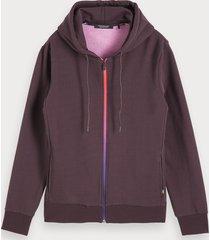 scotch & soda zip-through hoodie