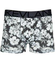 cueca boxer kevland floral dark - masculino